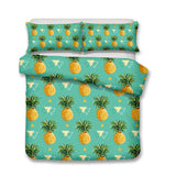 3D Green Pineapple Bedding Set Quilt Cover Quilt Duvet Cover ,Pillowcases Personalized  Bedding,Queen, King ,Full, Double 3 Pcs