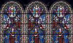 3D Stained Glass Church Wall Mural Wallpaper WJ 2097
