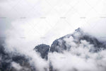 3D Mountain Peak Clouds Wall Mural Wallpaper SF78