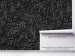 3D Black Sculpture Floral Pattern Wall Mural Wallpaper 68