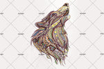 3D wolf wall mural wallpaper 03