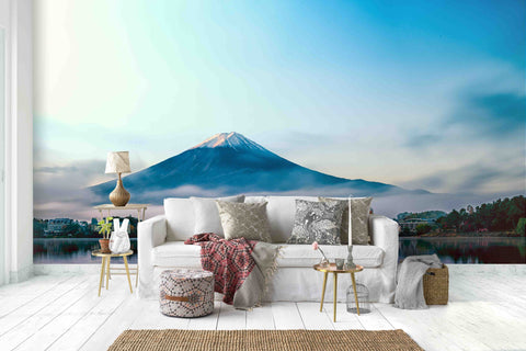 3D Blue Sky Snow Mountain Lake Water Wall Mural Wallpaper 16