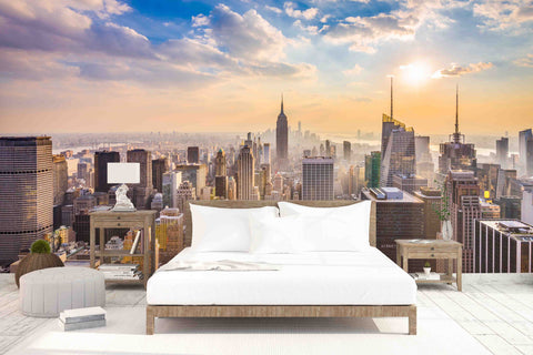 3D Bright City Scenery Wall Mural Wallpaper   29