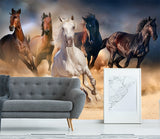 3D colorful horse galloping wall mural wallpape 19