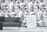 3D black white simple strokes wall mural wallpape 42