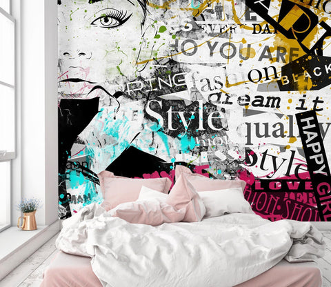 3D Woman Doodle 712 Wallpaper Jess Art Decoration