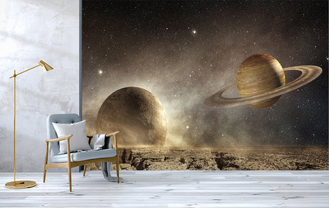 3D Planets Space Wall Mural Wallpaper 221