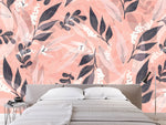 3D colorful leaf pattern wall mural wallpaper 45