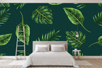 3D tropical plants wall mural wallpape 50