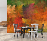3D abstract red leaves wall mural wallpape 40