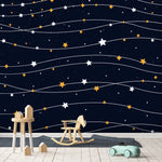3D colorful star pattern wall mural wallpape 43