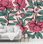3D colorful flower pattern wall mural wallpape 53