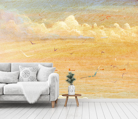 3D color abstract wall mural wallpape 11