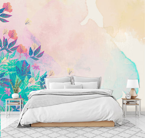 3D pink color gradient wall mural wallpape 26