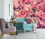 3D red peony wall mural wallpape 22