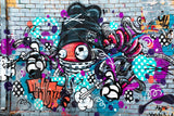 3D Colourful Abstract Graffiti Art Monster Wall Mural Wallpaper ZY D83