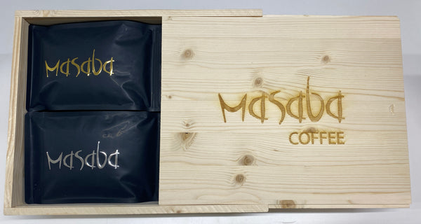 WOODEN COFFEE BOX