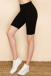 Off the Clock Classic Black Biker Shorts