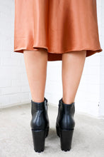 Load image into Gallery viewer, Chunky Cleated Black Booties