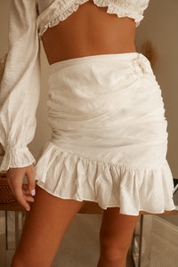 Seaside Ivory Mini Skirt