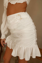 Load image into Gallery viewer, Seaside Ivory Mini Skirt