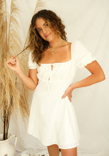 Load image into Gallery viewer, Annica White Babydoll Dress - RESTOCK