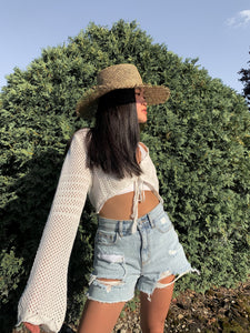Better With You Crochet Knit Top - Ivory
