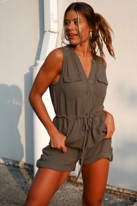 Paige Olive Romper