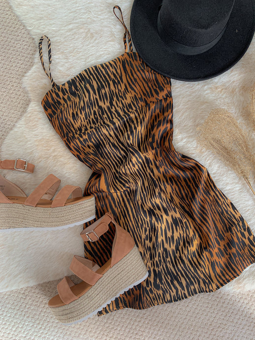 Little Wild Thing Animal Print Slip Dress
