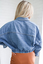 Load image into Gallery viewer, Better Late Than Never Denim Jacket
