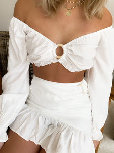 Seaside Ivory Crop Top