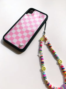 Y2K Smiley Beaded Phone Strap
