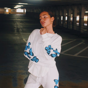 Grow + Glo Butterfly Crewneck
