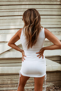 Heaven Sent Mini Dress - Ivory