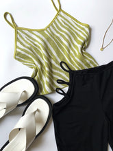 Load image into Gallery viewer, Stella Zebra Tank - Lime