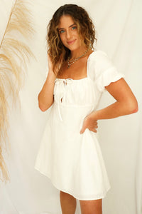 Annica White Babydoll Dress - RESTOCK