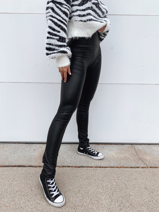 Cece Faux Leather Leggings - RESTOCK