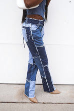 Load image into Gallery viewer, Gwen Color Block Denim Jeans