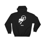 Skull and Wheel Hoodie - Black