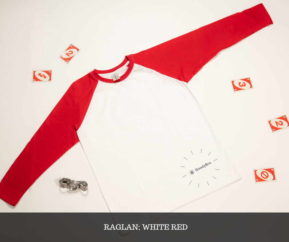 White and Red Raglan - GoodyBro