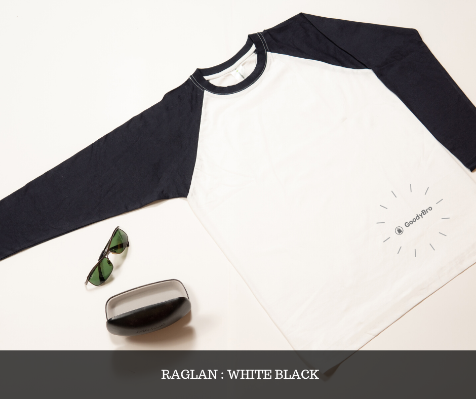 White and Black Raglan - GoodyBro