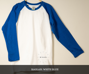 White and Blue Raglan - GoodyBro