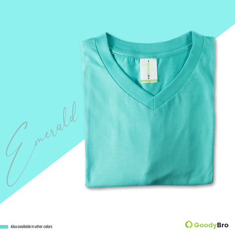 V-Neck Emerald Half Sleeves - GoodyBro