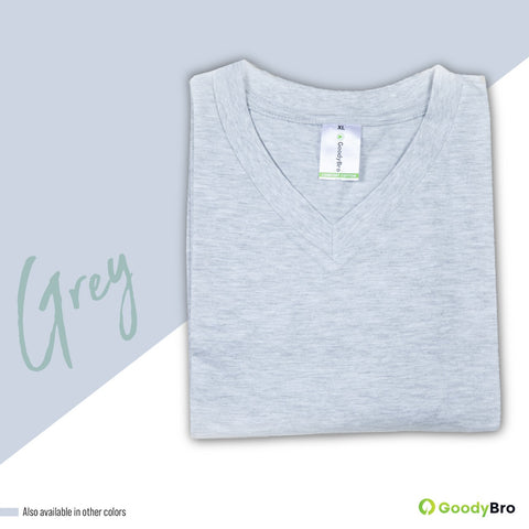 V-Neck Grey Half Sleeves - GoodyBro
