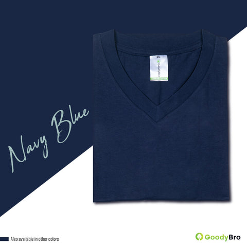 V-Neck Navy Half Sleeves - GoodyBro