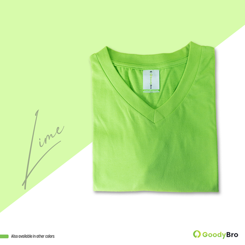 V-Neck Lime Half Sleeves - GoodyBro