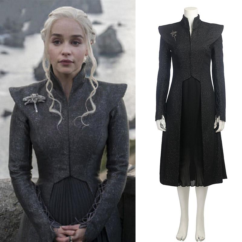 Game of Thrones Season 7 Daenerys Targaryen Black Dress