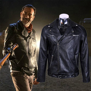 The Walking Dead Negan Men's Motorcycle PU Leather Jacket