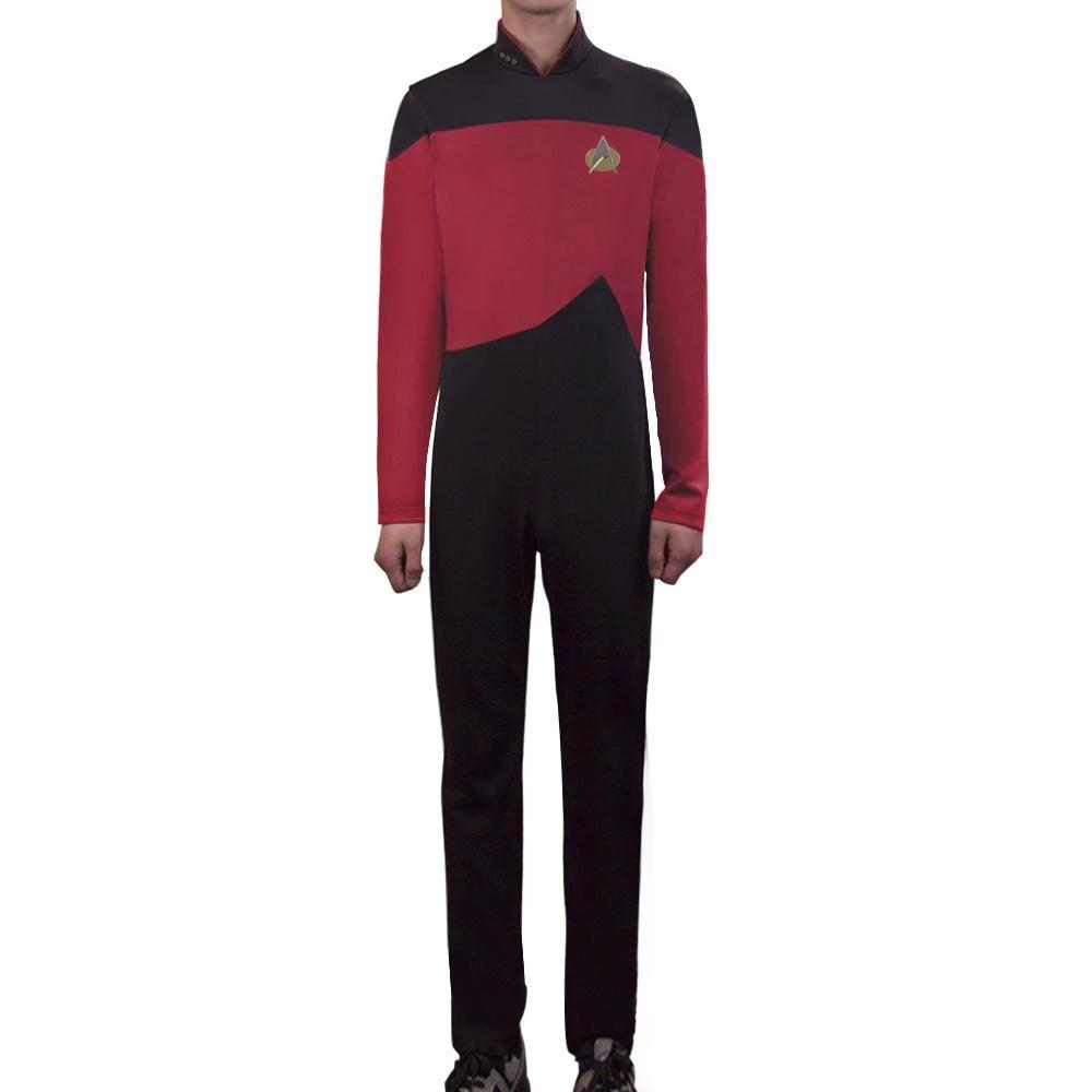 Star Trek TNG The Next Generation Jumpsuit Uniform Costume Yellow/Blue/Red