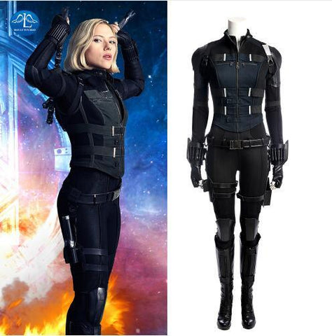 Avengers Infinity War Black Widow  Natasha Romanoff Cosplay  Costume